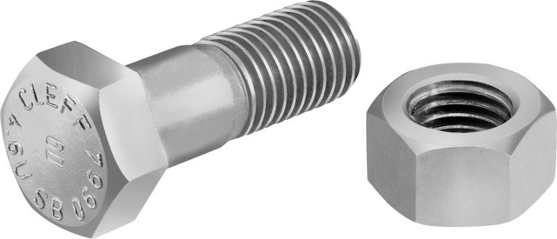 Standard bolts with hexagon head